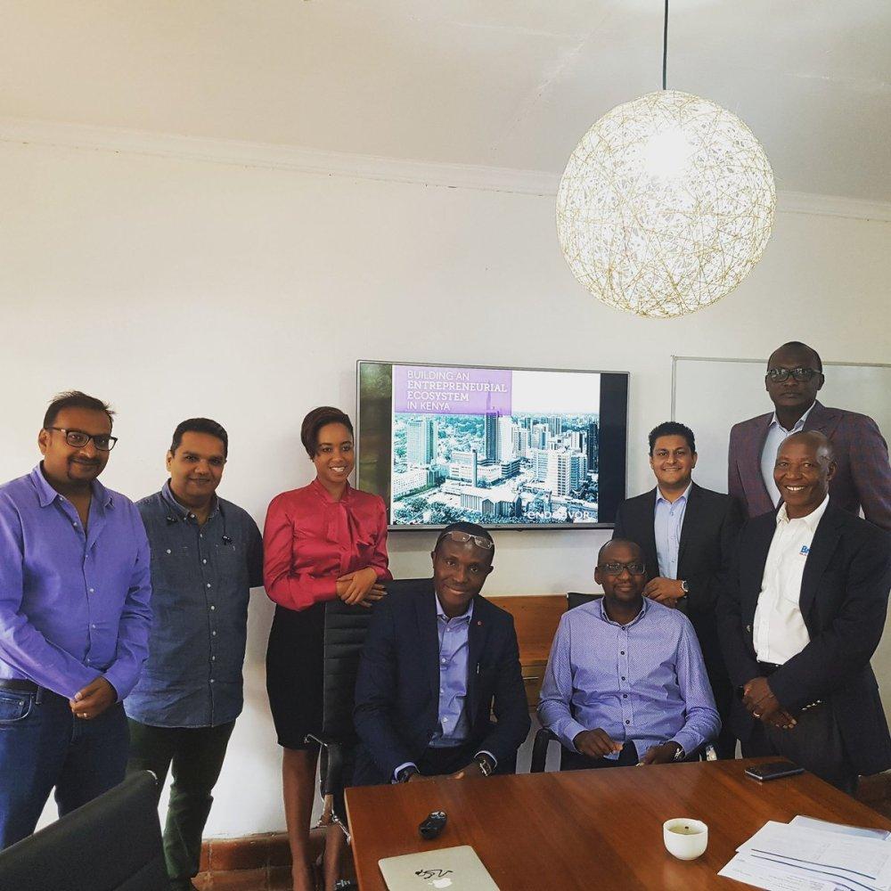 Bolaji Akinboro & Ken Njoroge with Endeavor Kenya Board